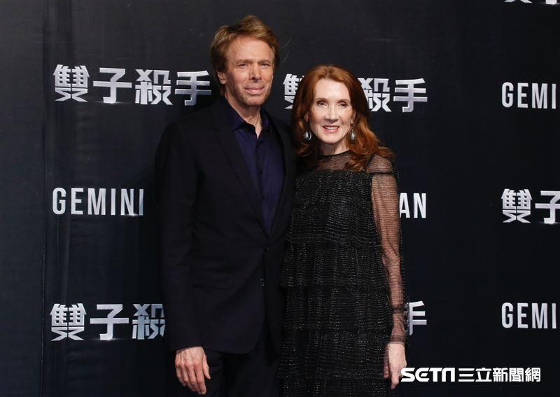 製片傑瑞布洛克海默夫婦出席《雙子殺手》台北首映會。(圖/記者林聖凱攝影)