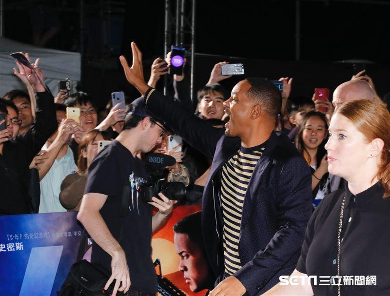 威爾史密斯出席《雙子殺手》台北首映會。(圖/記者林聖凱攝影)