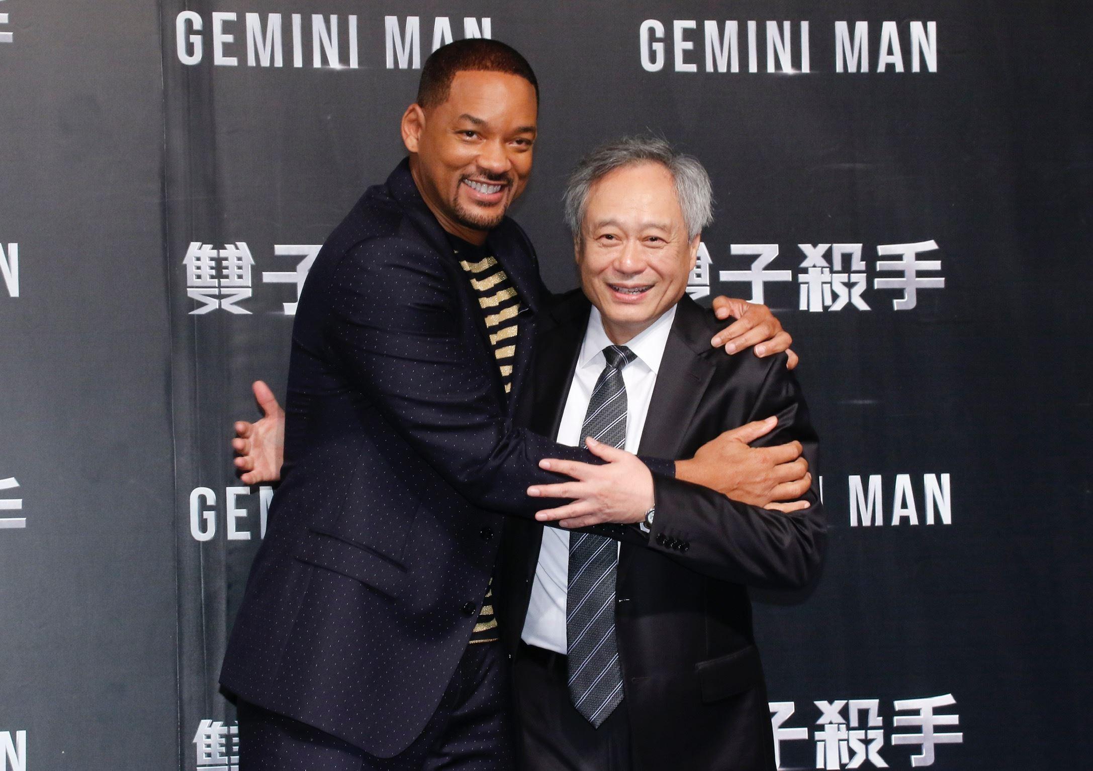 威爾史密斯與導演李安出席《雙子殺手》台北首映會。(圖/記者林聖凱攝影)