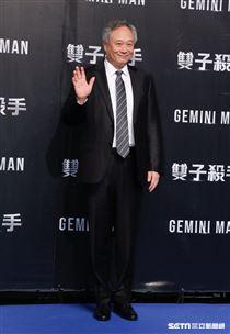 導演李安出席《雙子殺手》台北首映會。(圖/記者林聖凱攝影)