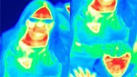 (圖/翻攝自Camera Obscura and World of Illusions臉書)紅外線,熱像儀,紅斑,乳癌,救命