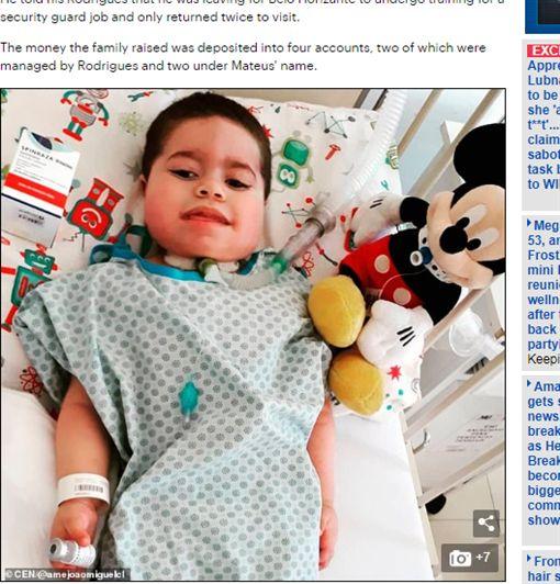 飯店,巴西,男童,罕病,五星級,揮霍,父親,募款https://www.dailymail.co.uk/news/article-7606439/Boy-diagnosed-genetic-disorder-dies-father-stole-money-raised-sons-treatment.html