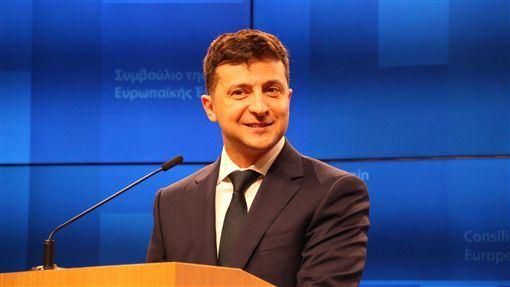 烏克蘭,澤倫斯基,人民公僕黨,陷貪腐醜聞,接受測謊(圖/中央社)