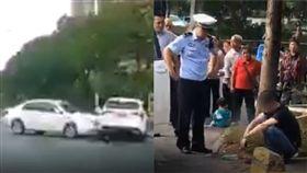 29歲男「求愛不成」超氣…竟開車猛亂撞!女駕駛抱童狂逃(圖/翻攝自我們視頻)