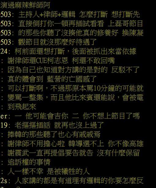 謝震武嗆爆韓國瑜網友發問