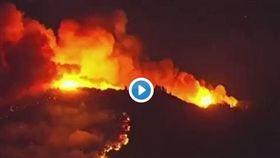 北加州酒鄉有超過一萬公頃的土地遭到森林野火侵襲(推特)