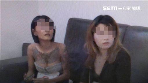 台北市萬華分局攻陷鑽石大樓,並逮獲酷似藝人李毓芬的越南籍賣淫女子(翻攝畫面)