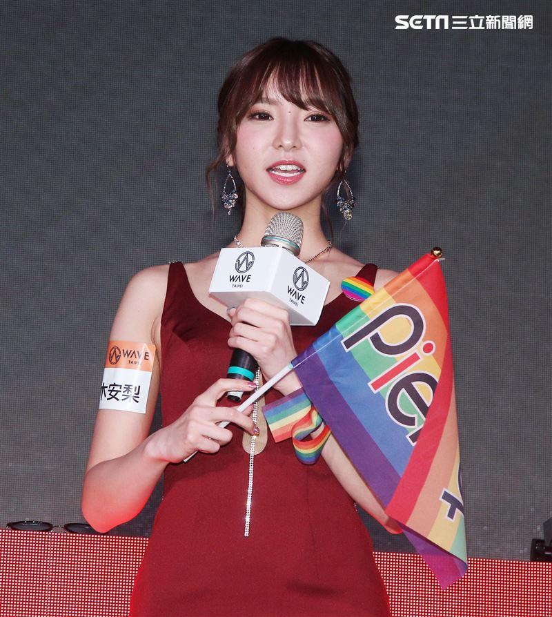 人氣AV女優夏木安梨12月來台學中文。(記者邱榮吉/攝影)