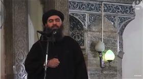 美軍突襲敘利亞!伊斯蘭國首腦疑遭斃 白宮出面證實 伊斯蘭國首腦 巴格達迪 Abu Bakr al-Baghdadi 圖/翻攝自The Guardian YouTube