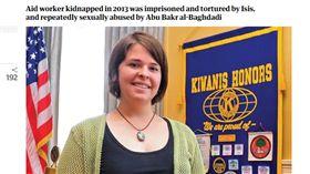 美國白宮國家安全顧問歐布萊恩(Robert O'Brien)於當地時間27日表示,美軍這波行動是以4年前遭ISIS殺害的人道救援工作者「穆勒(Kayla Mueller)」命名。(圖/翻攝自The Guardian)