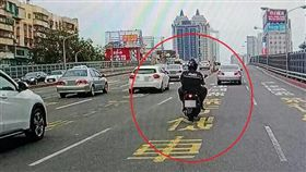 高雄,機車,快車道,公共危險罪,移送(圖/翻攝畫面)