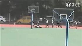 (圖/翻攝自梨視頻)中國,瀋陽,跑步,體能測試,猝死