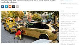▲德國保時捷Panamera因金色貼膜遭查扣(圖/翻攝DW.com)