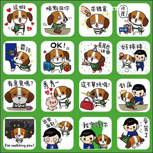 台灣豬,護國神犬,LINE貼圖,免費下載,非洲豬瘟,中華電信,農委會