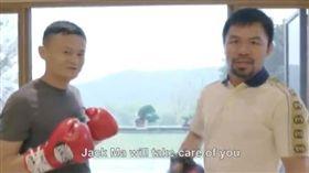 中國大陸,阿里巴巴,馬雲,梅威瑟,拳王(圖/翻攝自推特Manny Pacquiao)