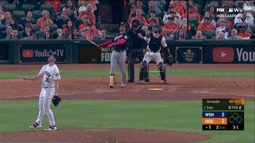 ▲韋蘭德(Justin Verlander)5局上連挨2轟。(圖/翻攝自MLB官網)