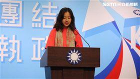 國民黨副發言人洪于茜。(圖/記者李依璇攝影)