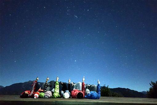 嘉義縣,阿里山,秋冬星座,邀親子,賞銀河(圖/嘉義林管處提供)中央社