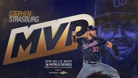 ▲史特拉斯堡(Stephen Strasburg)奪世界大賽MVP。(圖/翻攝自MLB推特)
