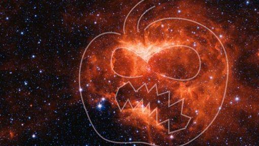 萬聖節,南瓜,燈籠,美國太空總署,星雲(圖/翻攝自NASA)