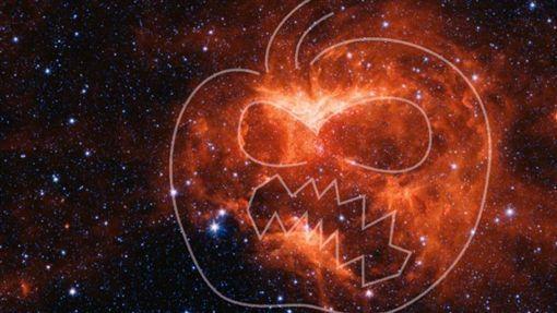 神似南瓜燈,高掛,NASA,萬聖節,拍到,應景影像(圖/翻攝自NASA)