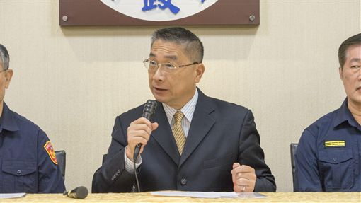 內政部長徐國勇31日下午針對治安議題召開臨時記者會。(圖/內政部提供)