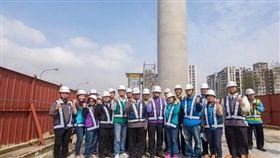 桃園捷運綠線GC01標高架工程進度超前,續朝如期如質完工目標邁進(圖/桃園市政府)