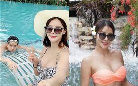46歲南韓美魔女Mina(沈敏雅)跟小17歲老公「SoReal」成員柳弼立(Phillip)。IG