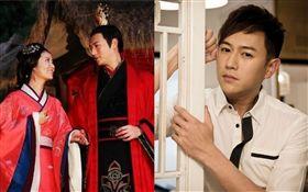 香港男星陳鍵鋒和林心如合作古裝劇《美人心計》。微博