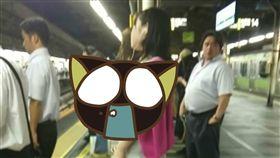 日本,正妹,素人,正妹,交通,電車,月台,等待,胸部,動漫,三次元, 圖/翻攝自5CH