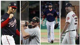 ▲桑契斯(Anibal Sanchez)、薛澤(Max Scherzer)、波塞洛(Rick Porcello)和韋蘭德(Justin Verlander)2014年都待過老虎隊。(圖/美聯社/達志影像)