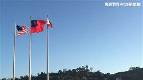 台灣、美國、國旗(記者陳建廷攝影)