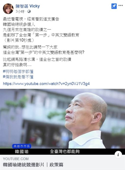 陳智菡臉書(圖/翻攝自陳智菡臉書)