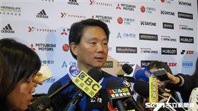 ▲台灣總教練洪一中記者會受訪。(圖/記者蕭保祥攝影)