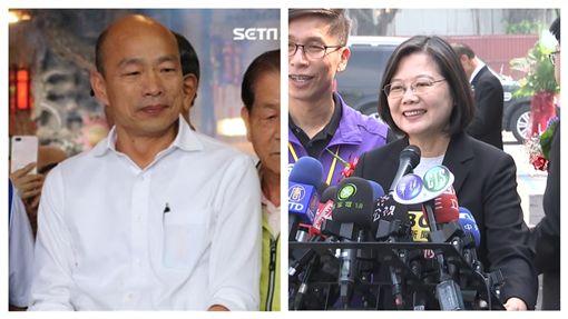 國民黨總統參選人韓國瑜,總統蔡英文。(組合圖)
