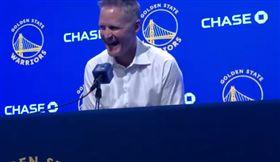 NBA/勇士菜鳥爆發!柯爾講冷笑話 NBA,金州勇士,Eric Paschall,Steve Kerr 翻攝自推特