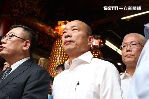 韓國瑜新竹城隍廟 記者李依璇攝影