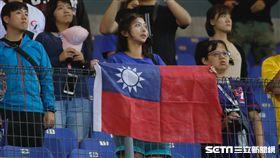 中華隊熱情球迷。(圖/記者林聖凱攝影)