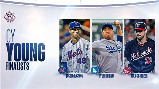 ▲柳賢振有望拿下生涯首座賽揚獎。(圖/翻攝自MLB推特)
