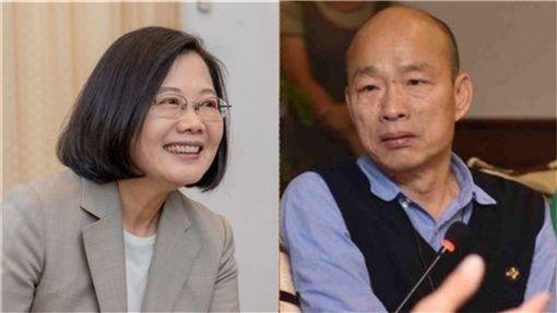 蔡英文,韓國瑜(組合圖/翻攝臉書)