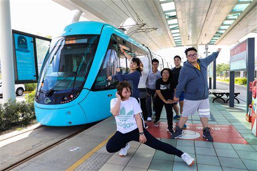 新北市,淡海輕軌,通車,滿一年,台灣鐵道,最北車站,路跑(圖/新北捷運公司提供)中央社