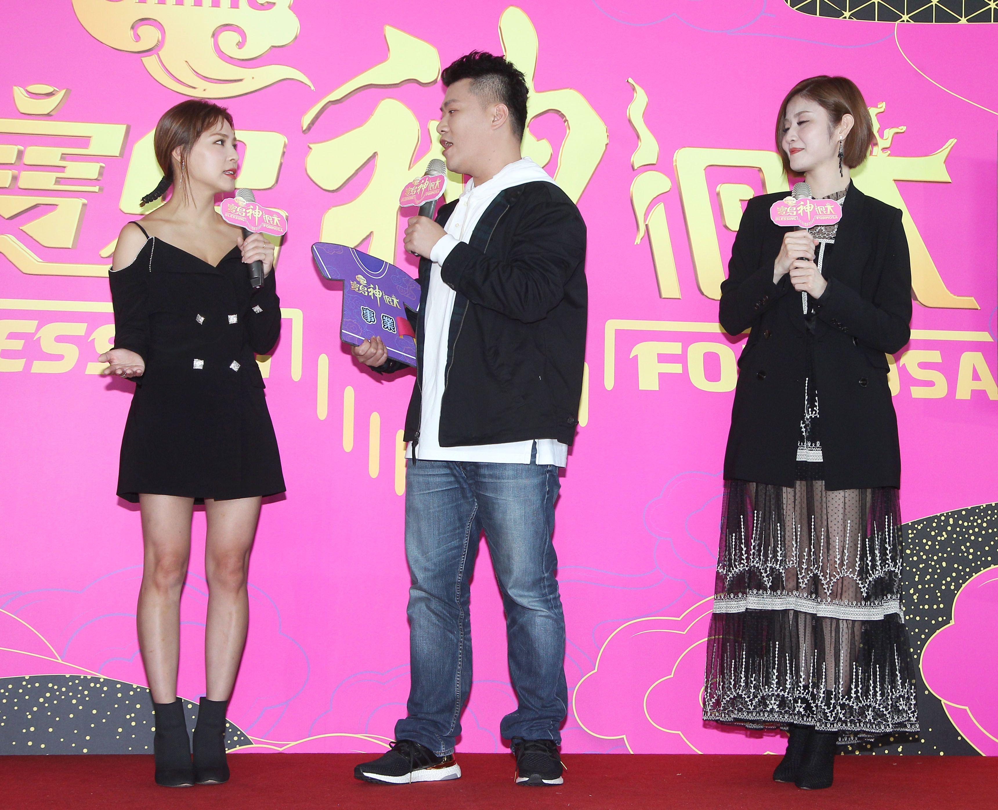 卓毓彤(熊熊)、許志豪、大堡出席「寶島神很大」上線記者會。(記者邱榮吉/攝影)