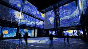 再見梵谷,光影體驗展,首度登台,投影巨幕,魔幻空間(圖/JUSTLIVE就是現場提供)中央社