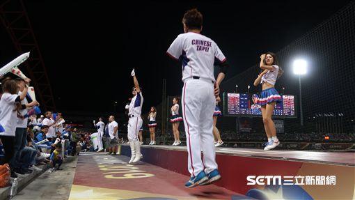 12強中華隊台灣應援團。(圖/記者王怡翔攝影)