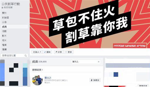藏身臉書罷韓社團!葉元之6月就加入…成員驚呆:自己人?(圖/翻攝自公民割草行動臉書)