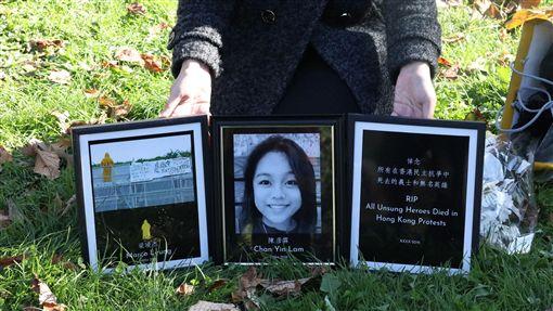 華府聲援香港組織「DC4HK」2日舉辦112求援國際活動,當中悼念曾參與香港「反送中」運動喪生的民眾,包含失蹤多日後遺體在海上被發現的香港15歲少女陳彥霖(圖)。中央社記者徐薇婷華盛頓攝 108年11月3日
