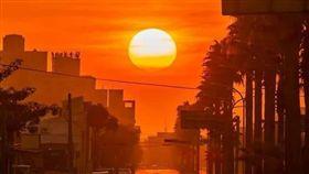 懸日,氣象局,台北,台中市,懸日,/甲安埔社區大學攝影班許崇良老師提供