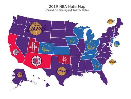 NBA/竄位勇士!湖人登最討厭球隊NBA,洛杉磯湖人,,洛杉磯快艇,金州勇士翻攝自推特
