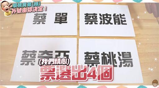 蔡阿嘎老二名字票選!曝4搞笑候選名…蔡桃貴奶音投第一票(圖/翻攝自YouTube)
