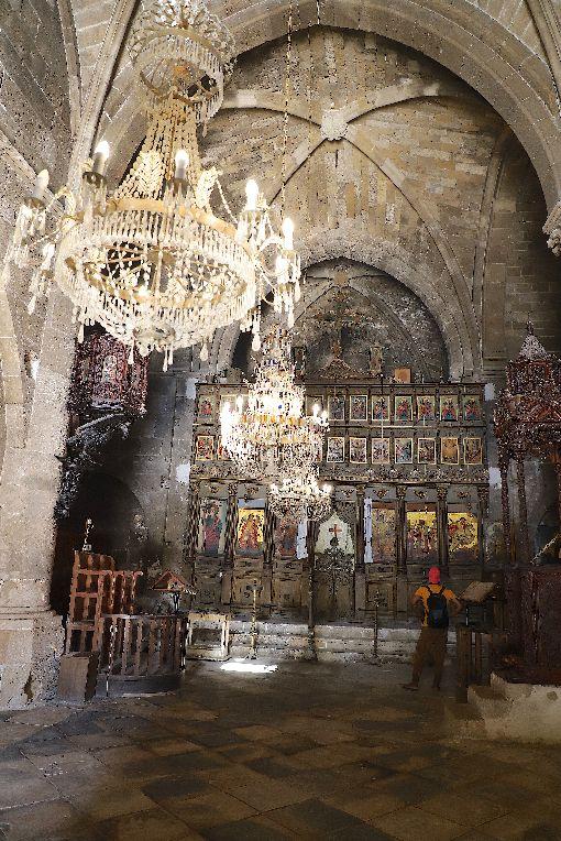 北賽普勒斯 貝拉派拜斯修道院東地中海賽普勒斯島擁有從新石器時代以來幾十個世紀的文明印記。圖為位在賽島北部建於13世紀的貝拉派拜斯修道院(Bellapais Abbey),8月21日攝。中央社記者何宏儒北賽普勒斯攝   108年11月9日